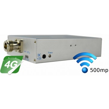 Amplificator bidirectional 4G LTE (800 MHz), acoperire 400-500mp